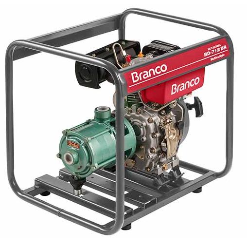 Motobomba a Diesel Branco BD712BR Multi-Estagio  - GENSETEC GERADORES