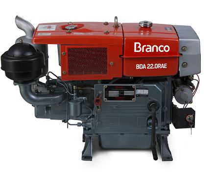 Motor Diesel Branco BDA 22.0RAE Radiador Partida Elétrica  - GENSETEC GERADORES