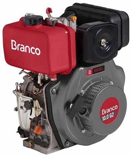 Motor Diesel Branco BD10 G2 Partida Manual 10hp  - GENSETEC GERADORES