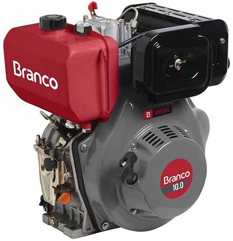 Motor Diesel Branco BD10 Partida Manual 10hp  - GENSETEC GERADORES