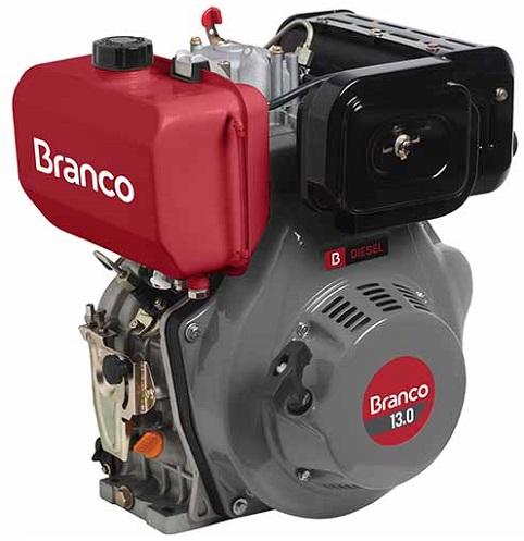 Motor Diesel Branco BD13 Partida Manual 13hp  - GENSETEC GERADORES