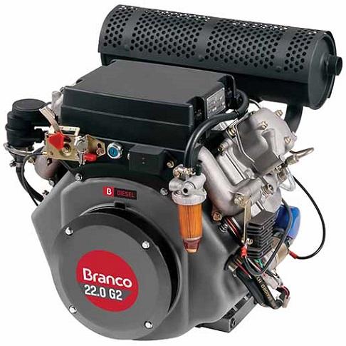 Motor Diesel Branco BD22 G2 Partida Elétrica 22hp  - GENSETEC GERADORES