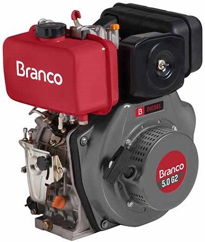 Motor Diesel Branco BD5.0 G2 Partida Manual 5hp  - GENSETEC GERADORES