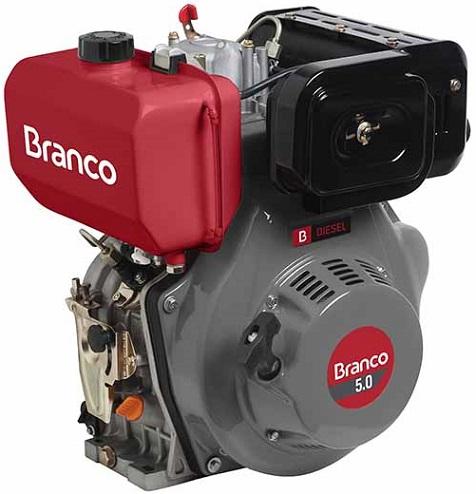 Motor Diesel Branco BD5.0 Partida Manual 5hp  - GENSETEC GERADORES