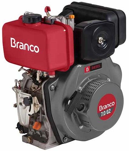 Motor Diesel Branco BD7.0 G2 Partida Manual 7hp  - GENSETEC GERADORES