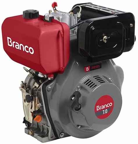 Motor Diesel Branco BD7.0 Partida Manual 7hp  - GENSETEC GERADORES
