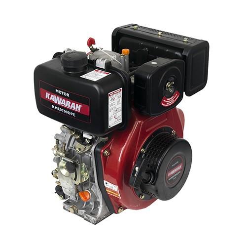 Motor Diesel Kawarah KME0700DPE Partida Elétrica 7hp  - GENSETEC GERADORES