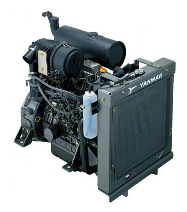 Motor Diesel Yanmar 4TNV84T GGE Turbo 1800 RPM 36,4hp  - GENSETEC GERADORES