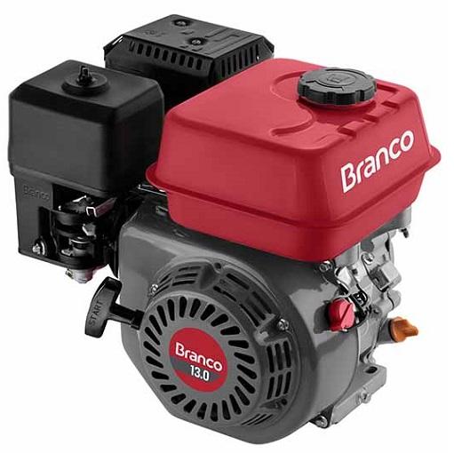 Motor Gasolina Branco B4T 13hp  - GENSETEC GERADORES