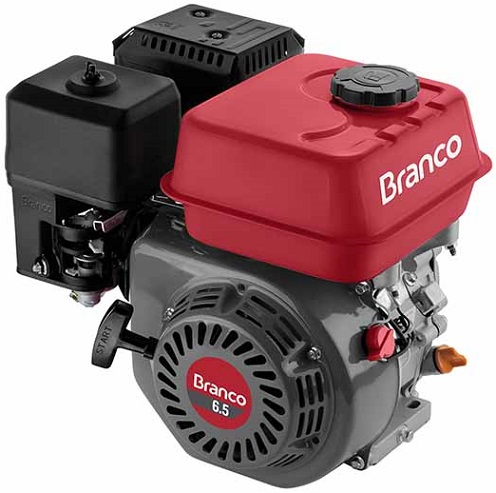 Motor Gasolina Branco B4T 6.5 hp  - GENSETEC GERADORES