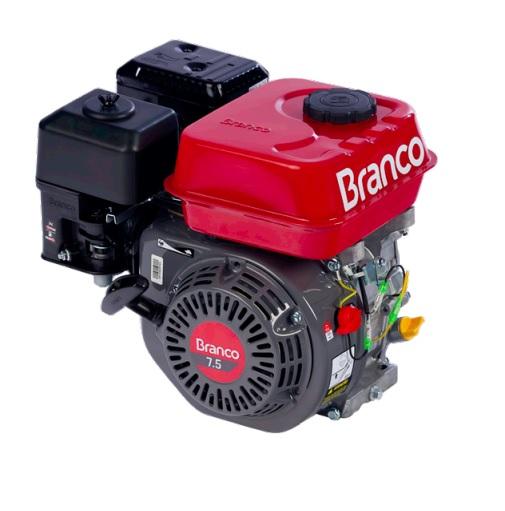 Motor Gasolina Branco B4T 7.5 hp - Alerta de Òleo  - GENSETEC GERADORES