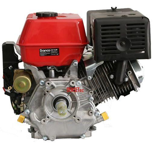 Motor Gasolina Branco B4T 8.5H 8.5hp Partida Elétrica  - GENSETEC GERADORES