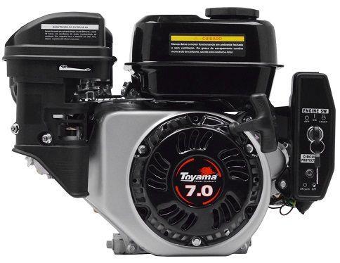 Motor Gasolina Toyama TE70E-KXP Partida Elétrica 7hp  - GENSETEC GERADORES