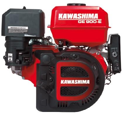 Motor Gasolina Kawashima GE900-E Partida Elétrica 9hp  - GENSETEC GERADORES