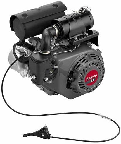 Motor Para Compactador de Solo Branco B4T5.5 CX 5.5 hp 4 Tempos  - GENSETEC GERADORES