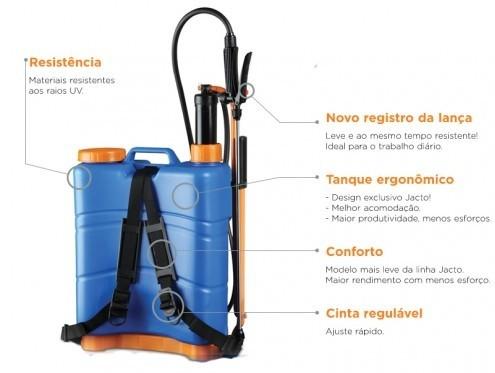 Pulverizador Costal Manual Jacto XP20 Litros  - GENSETEC GERADORES