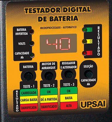 Testador de Baterias Digital Upsai Automático TDU 40  - GENSETEC GERADORES