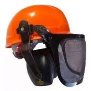 Capacete 3 Em 1 Com Protetor Facil Tela E Abafador Ars 16db