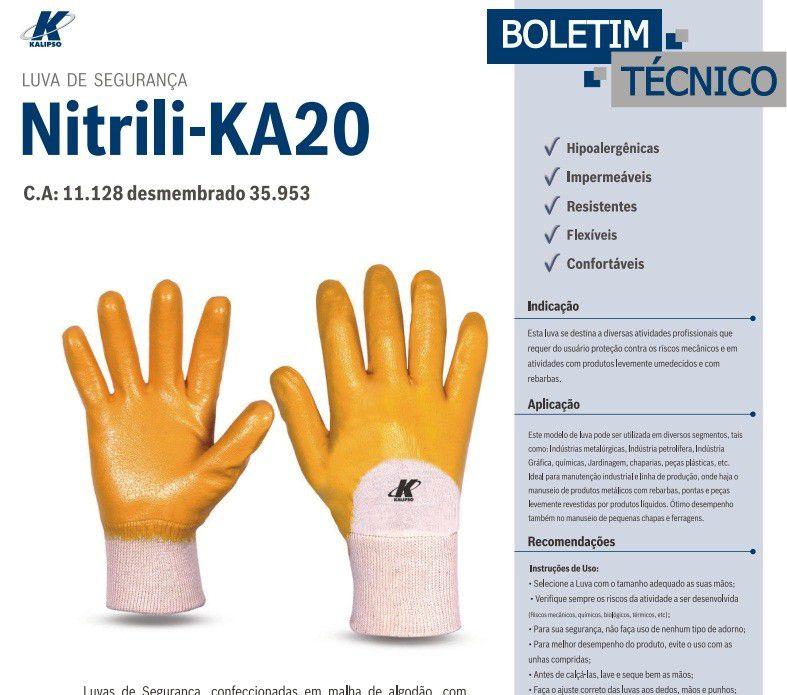 LUVA NITRILICA K20