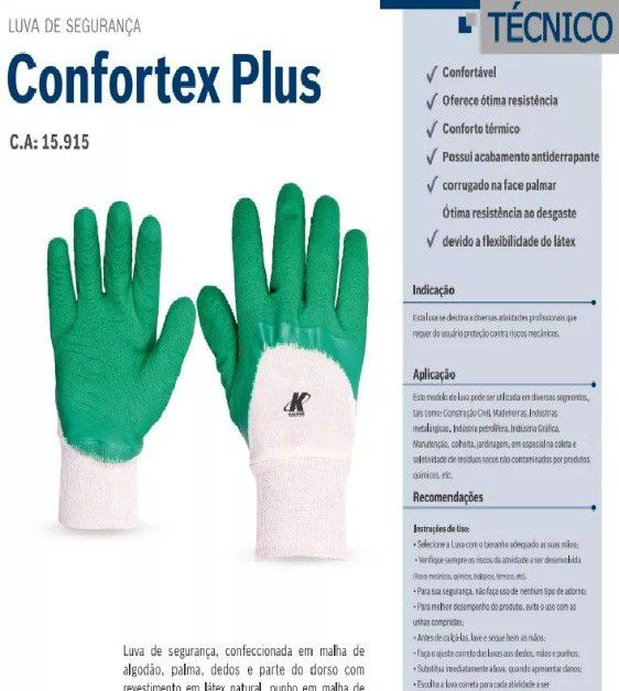 LUVA CONFORTEX PLUS KALIPSO