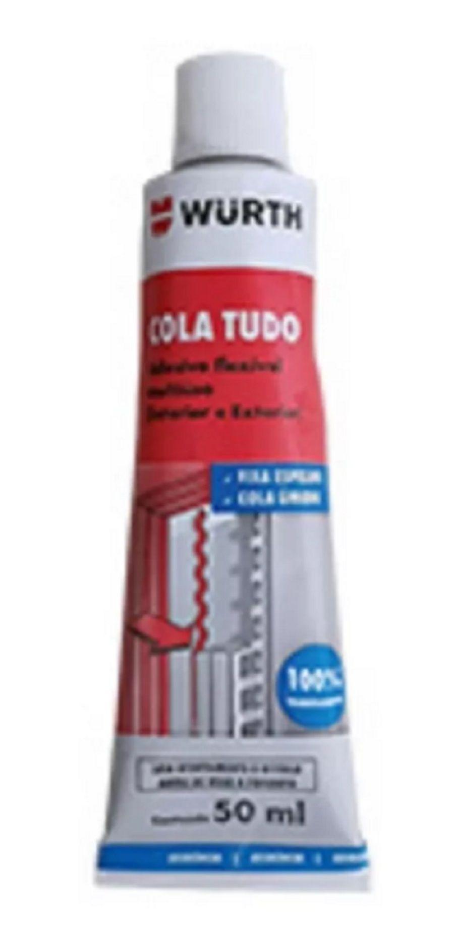 Cola Tudo Painéis Chapas Telhas Azulejo Espelho Louças Wurth 75g
