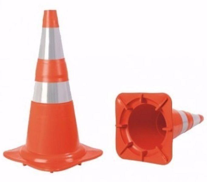 Cone Refletivo 75 Cm Sinalização Nbr 15071 Flexível