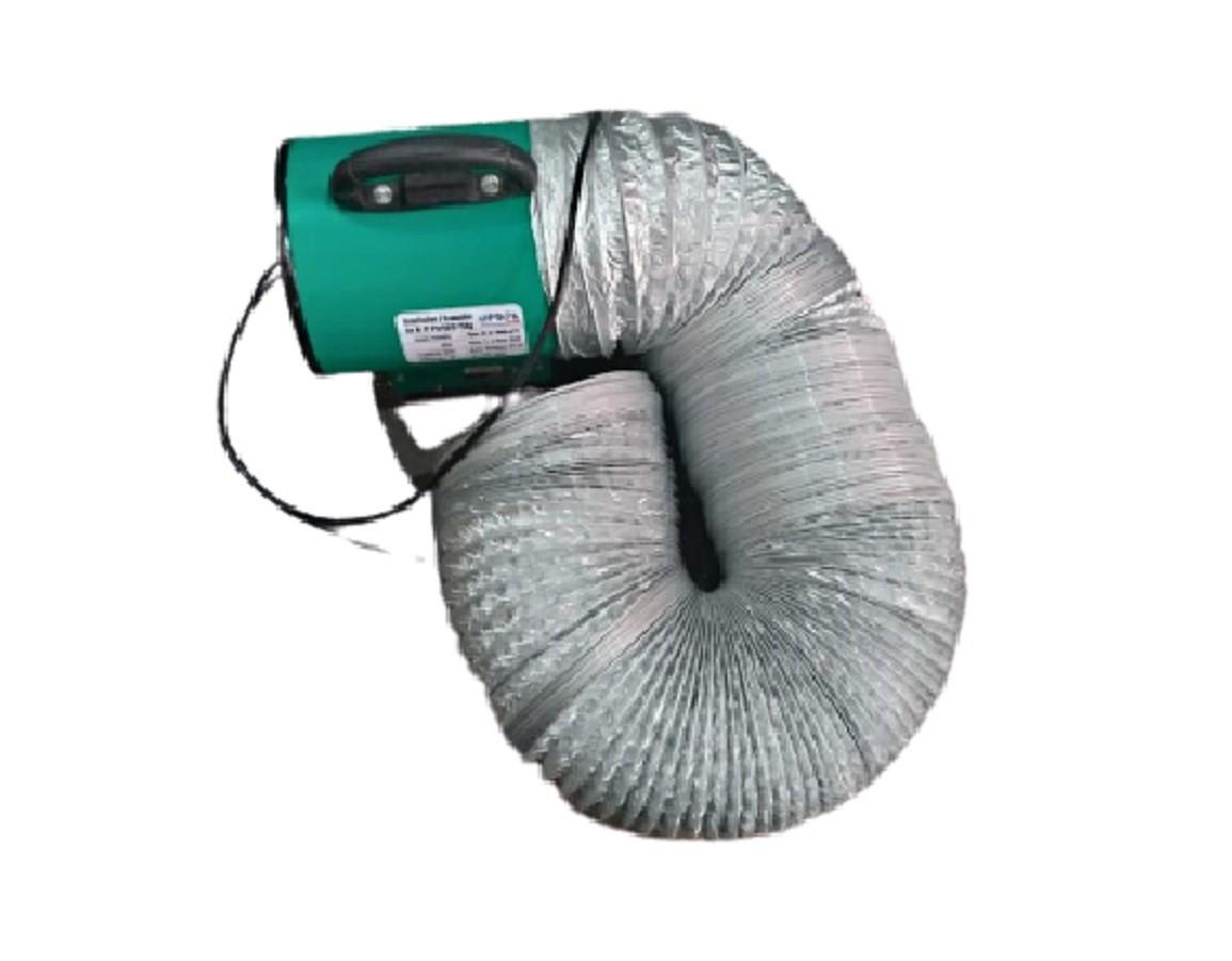 Exaustor Insuflador de Ar para Espaço Confinado com 10 mts de Duto Aluminizado