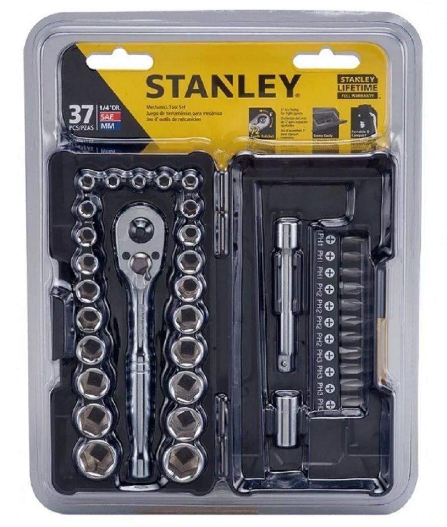 Jogo De Soquetes 1/4 37 Peças Stanley