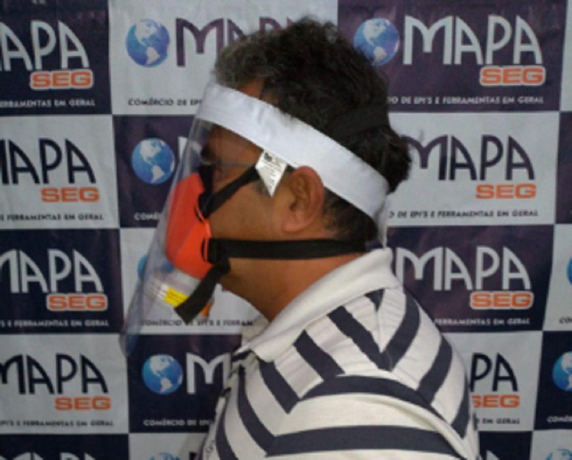 Kit Protetor Facial COVID19 Corona Virus+Mascara com Filtro VO/GA