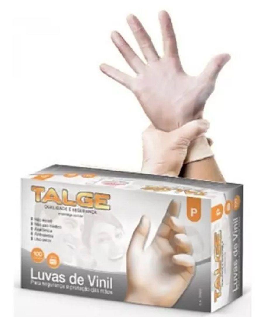LUVA DE VINIL COM PÓ TALGE CX COM 100