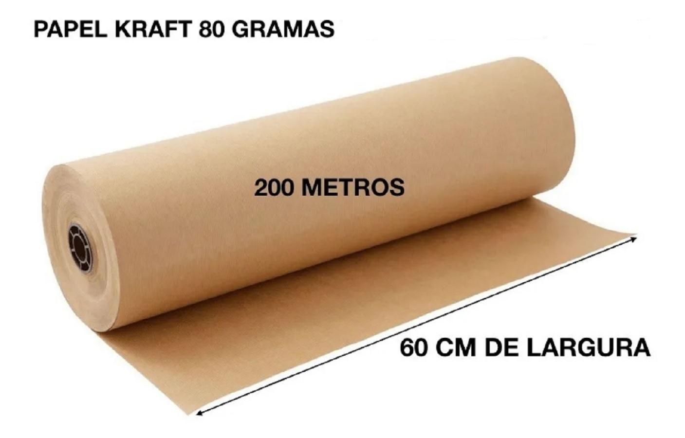 Rolo Bobina de papel Kraft 80g x 60cm 200mts