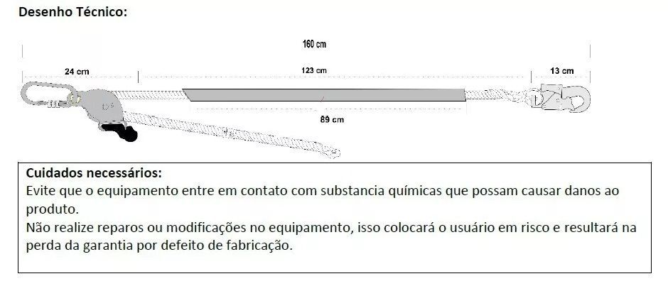 Talabarte De Posicionamento Ajustável Corda Poste Eletricista