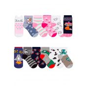 Kit 6 Meias Duck Infantil Sortidas