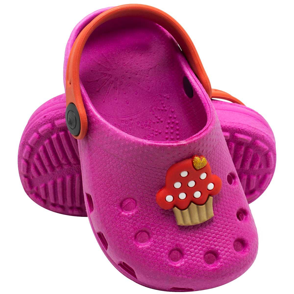 Babuche Infantil Feminino Cupcake