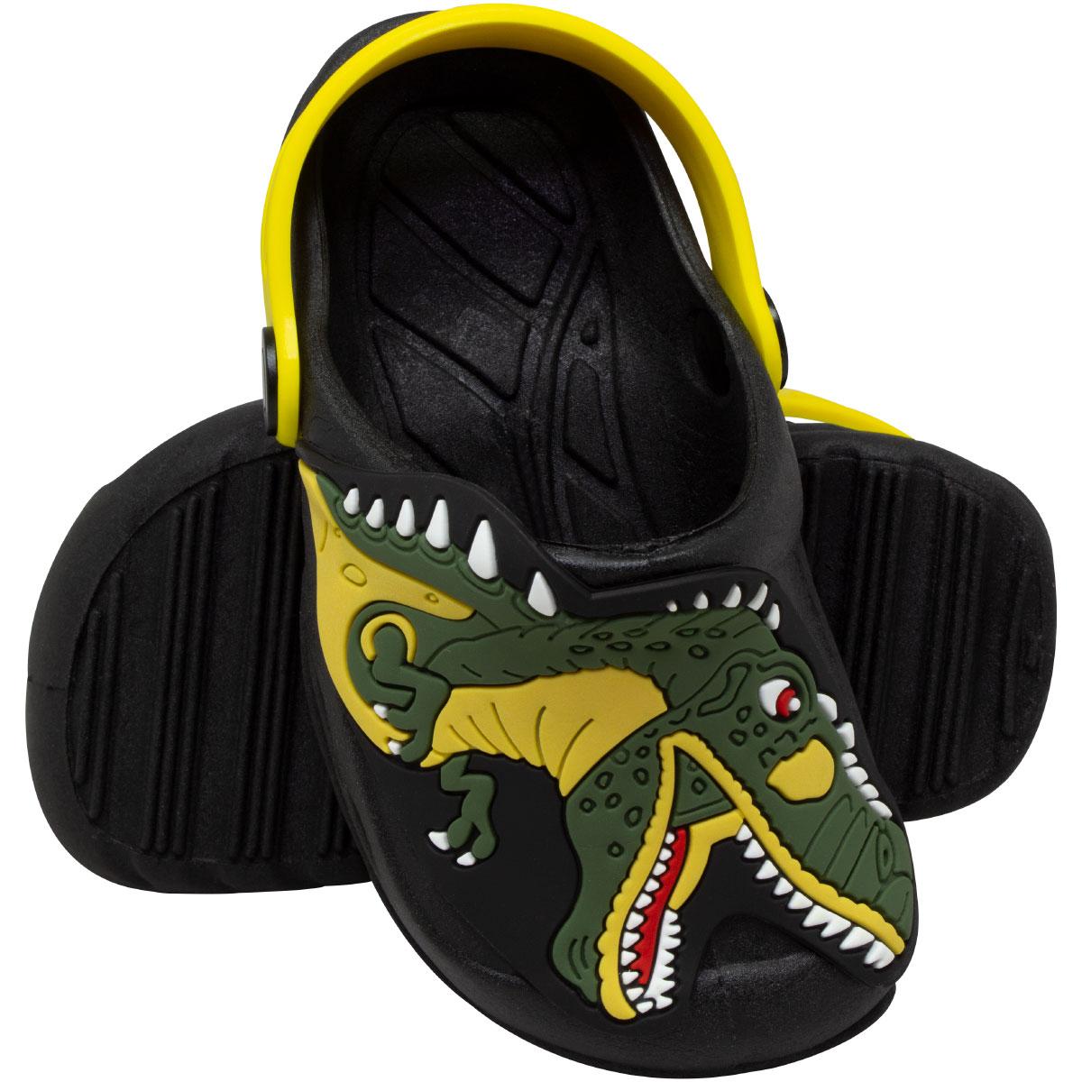 Babuche Infantil Vazado Dinossauro Rex
