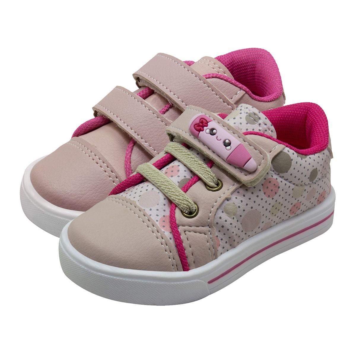 KIT 02 Pares de Tênis Feminino Velcro Infantil itra