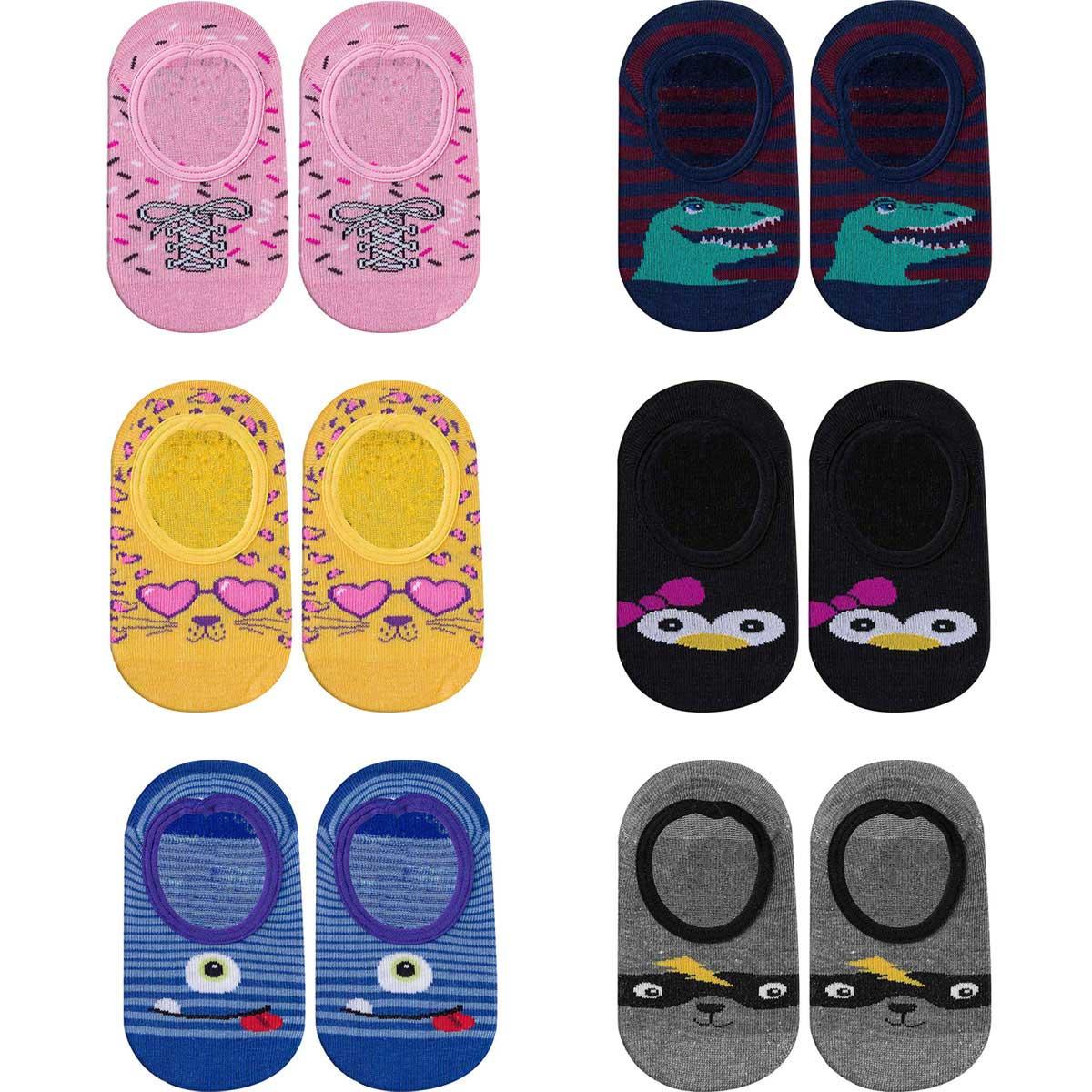 Kit 06 pares de Meia Play Socks