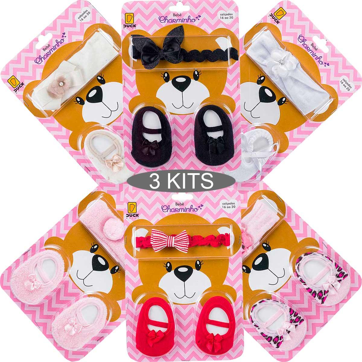 KIT 3 Conjuntos Bebês Charminho