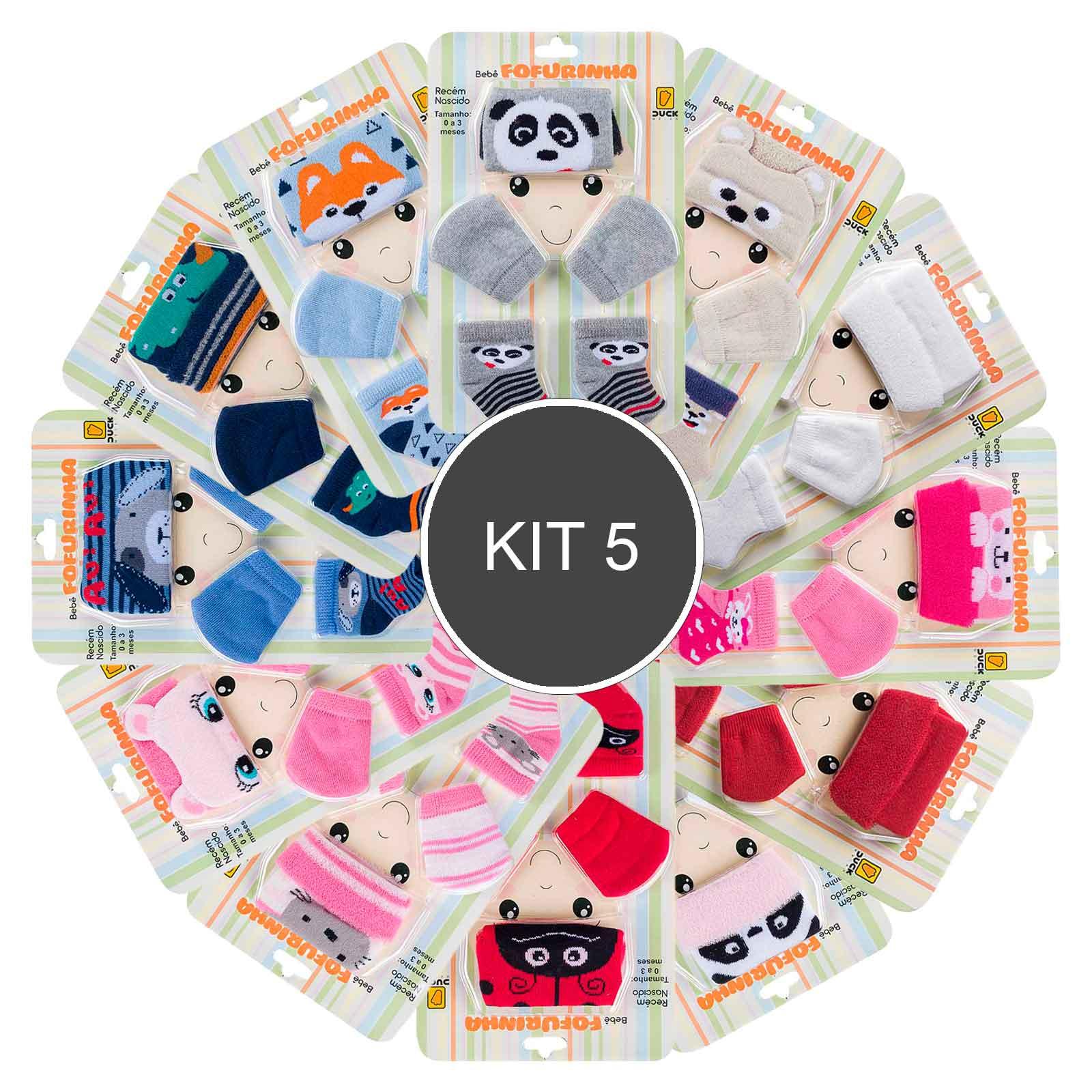 KIT 5 Conjuntos Bebê Fofurinha
