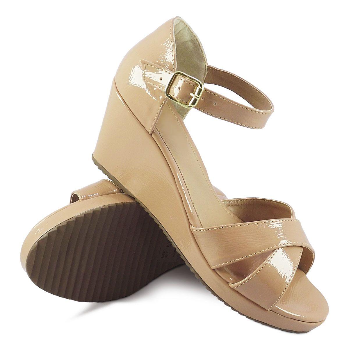 b5c7e05836 Itra - Distribuidora de Calçados. Sandália Feminina Salto Médio-Baixo