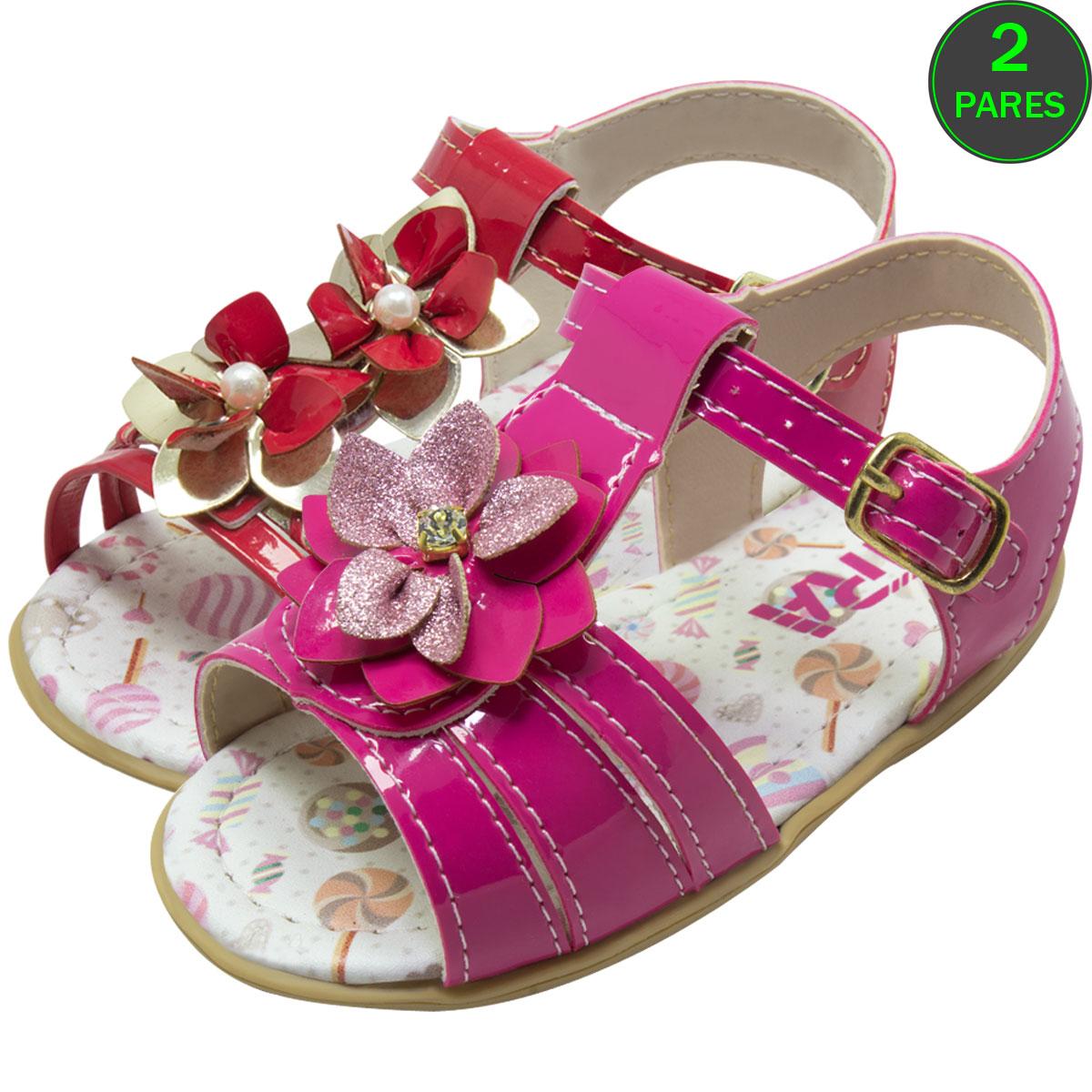 Sandália Flores Infantil Bebê 012-09-10