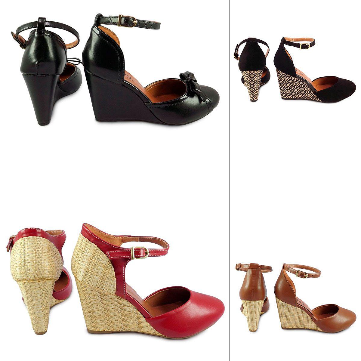 Sapato Feminino Anabela Boneca