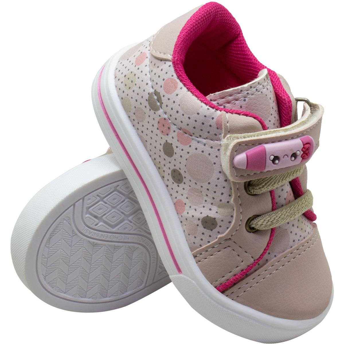 Tênis Infantil Casual Velcro com Lápis