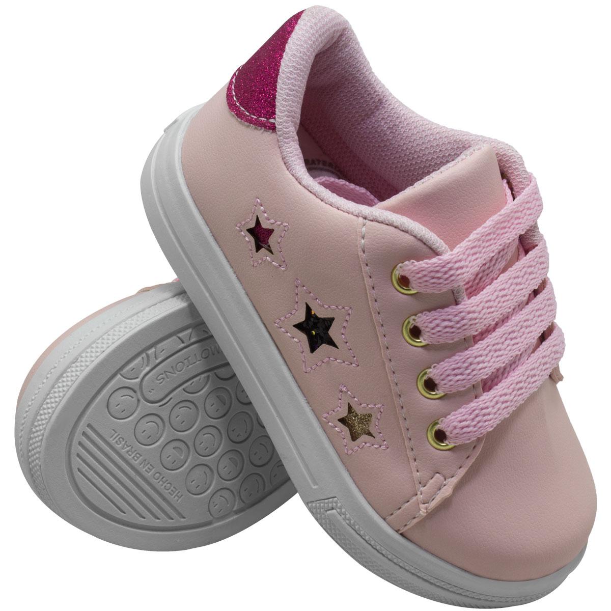Tênis Infantil Feminino Três Estrelas Skater 30-2037-07