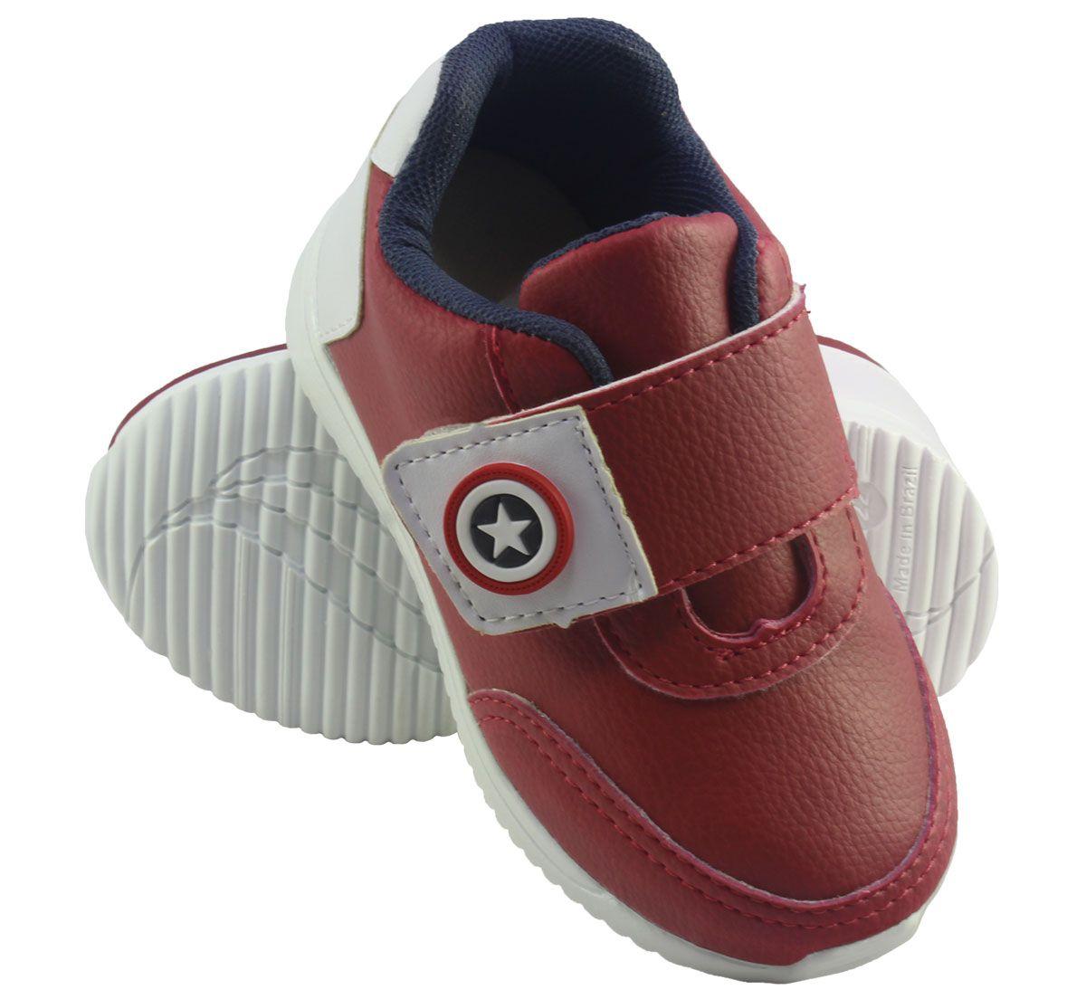 Tênis Infantil Heróis Velcro sem Cadarço
