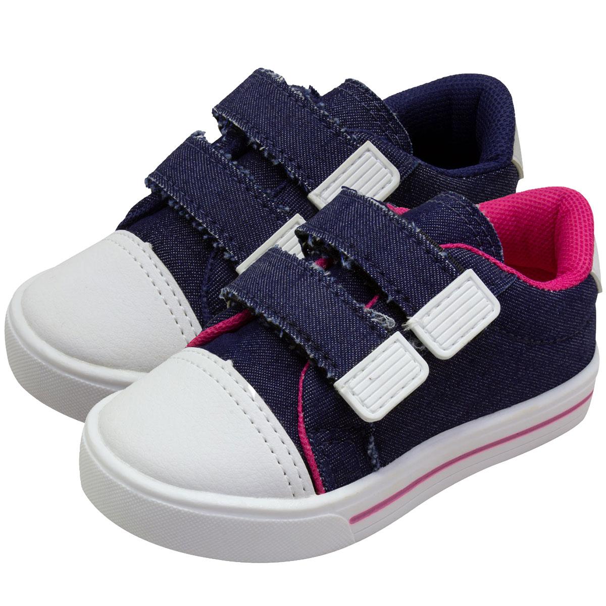 Tênis Infantil Itra Casual Jeans Veste Fácil