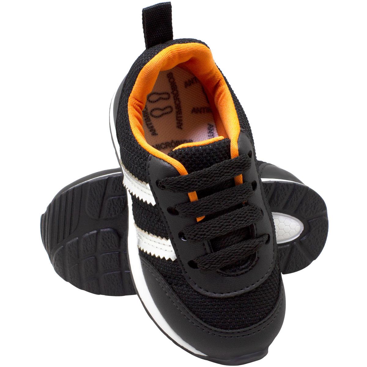 Tênis infantil masculino jogging c/biqueira 152-04-13
