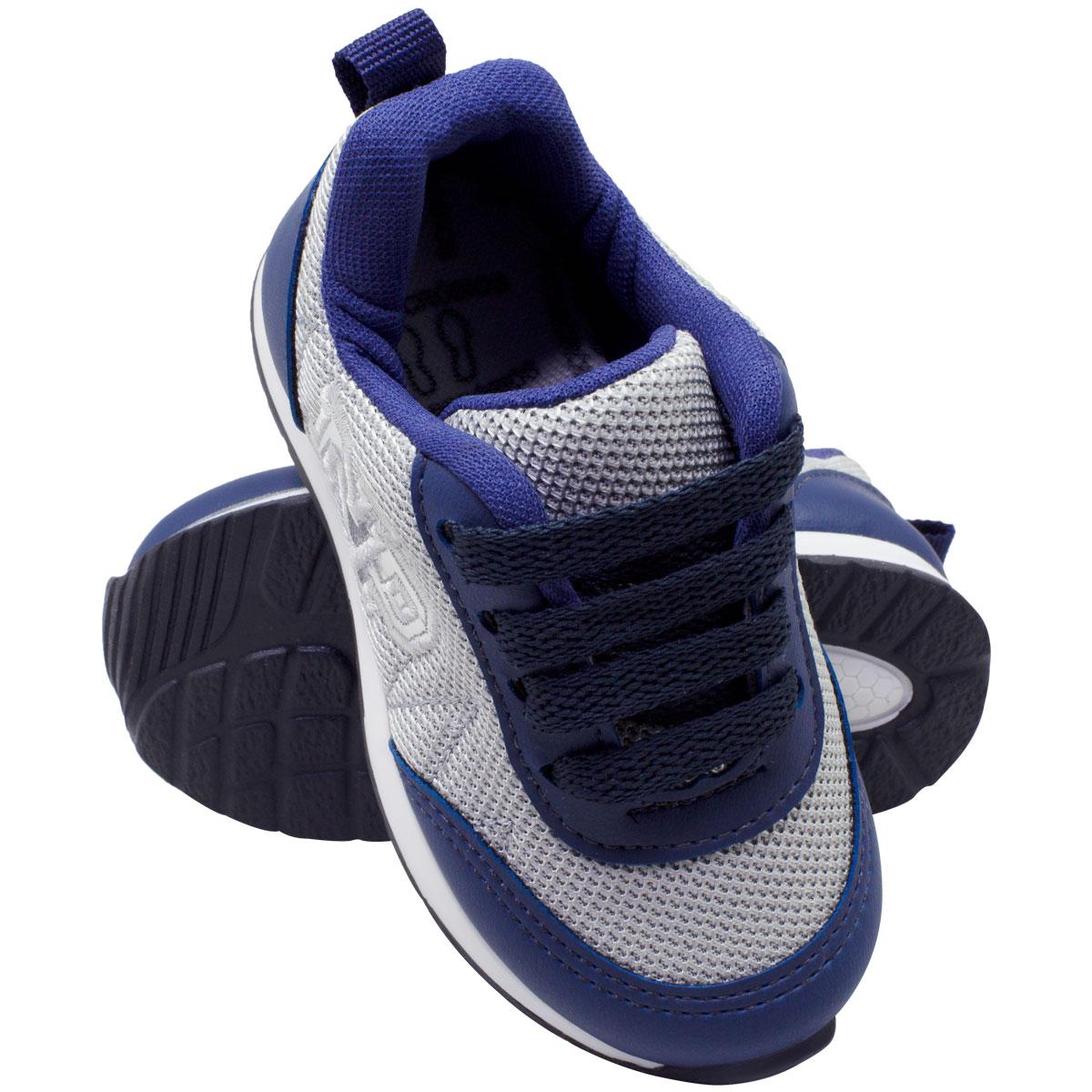 Tênis infantil masculino jogging c/biqueira 152-07-03