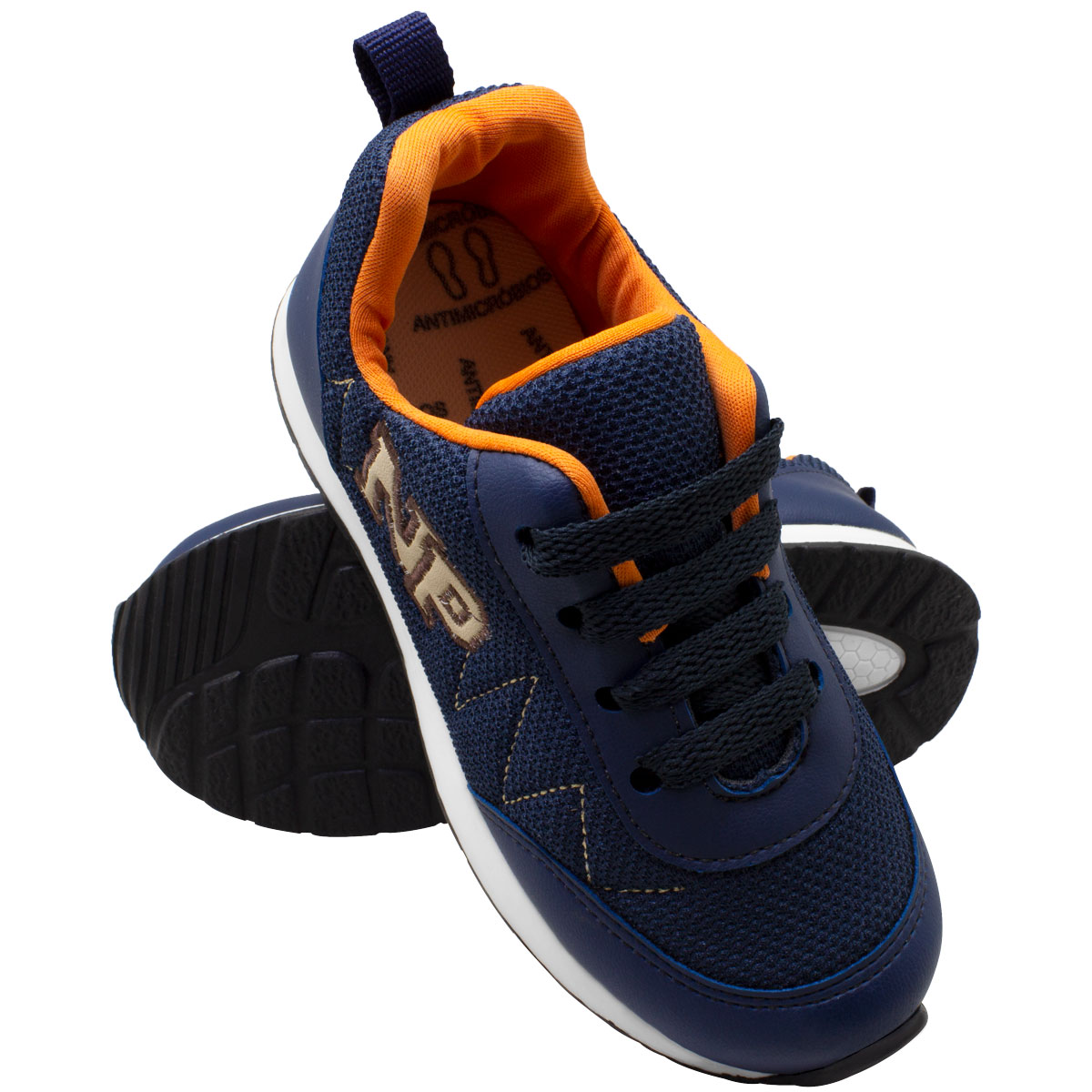 Tênis infantil masculino jogging c/biqueira 152-07-53X
