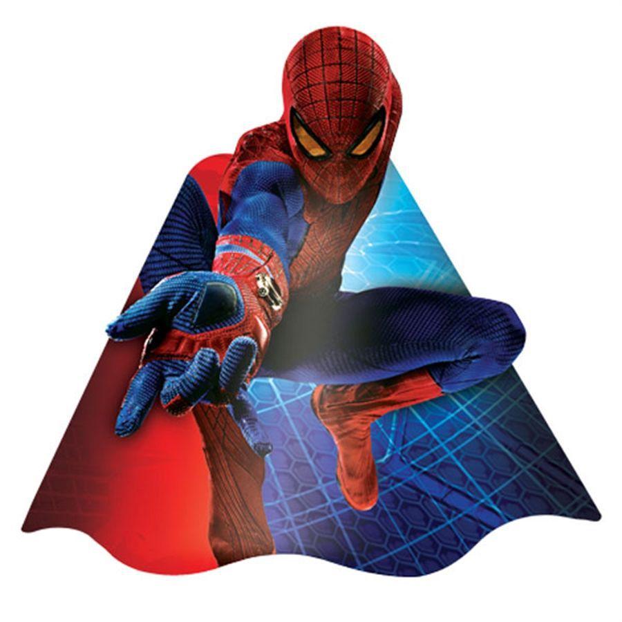 Chapéu de Aniversário Homem Aranha c/ 8 unid.